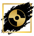 cd or dvd sign golden icon at vector image