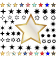 Different stars vector image