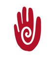 hand icon aztec vector image
