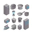 Isometric set of kitchen appliances vector image