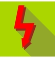 Lightning icon in flat style vector image