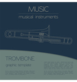 Musical instruments graphic template Trombone vector image