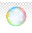 rainbow soap bubble on a transparent background vector image