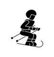 skier icon sign on isolate vector image
