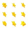 Star figure icons set cartoon style vector image