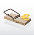 Mousetrap with euro money vector image vector image