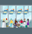 passengers in airport concept vector image