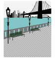 City Bridge vector image