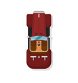 top view luxury hot rod car isolated icon vector image