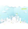 eco city concept people happy in urban city vector image