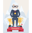 Old man champion in sport vector image vector image