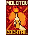 Molotov cocktail vector image