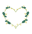 Yellow Aglaia Odorata Flowers in Heart Shape vector image
