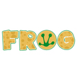 Frog Font Text vector image vector image