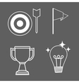 Achievement design Success icon Colorful design vector image