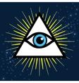 Sign third eye vector image