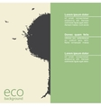 Abstract grunge tree on eco background vector image