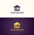 Delivery of food home vector image
