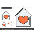 home sweet home line icon vector image
