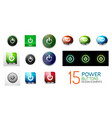 set of round start power buttons vector image