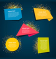 style text templates origami for banner vector image