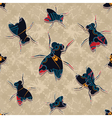 fly pattern vector image