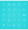 Love Romance Line Icons vector image