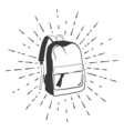 Backpack Doodle Sketch Isolated on White vector image