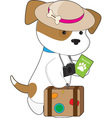 Puppy Travel vector image