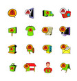 advertisement set icons set cartoon vector image