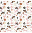 childrens doodle style seamless pattern with vector image