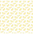 brush banana seamless pattern vector image