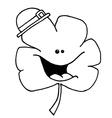 Clover cartoon vector image vector image