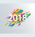 new year 2018 design card on modern background vector image vector image