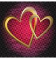 Valentine dark grunge frame vector image vector image