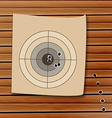 Shooting range target with bullet holes vector image vector image