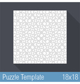 Puzzle Template 18x18 vector image vector image