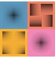 halftone patterns vector image vector image