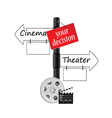 cinema or theater icon vector image