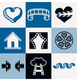cinema logo icons vector image vector image