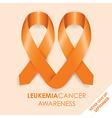 Leukemia cancer ribbon vector image