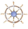 Watercolor ship steering wheel vector image