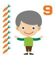cartoon boy learning game card vector image
