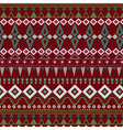 Tribal ethnic seamless stripe pattern on red vector image