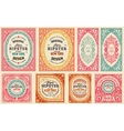 Retro cards set Elements organized by layers vector image