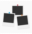Set of photos vector image