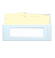 Blue box with folders vector image