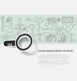 business set template with doodles icons vector image