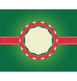 Christmas Greeting Card ribbon with copy space vector image