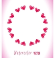Circle frame with hearts vector image